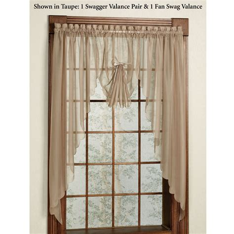 sheer swag curtains valances emelia sheer swag valances and window treatments
