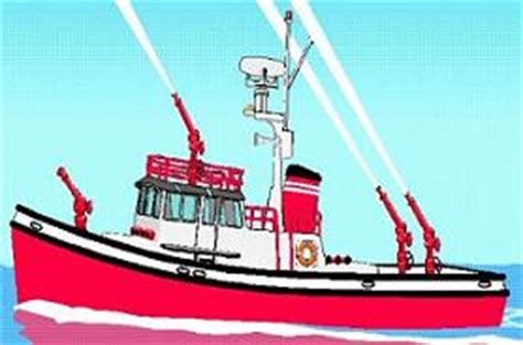 fire boat cartoon boat on fire clipart