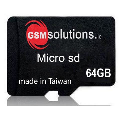 Micro Sd Card 64gb gsm solutions micro sd memory card