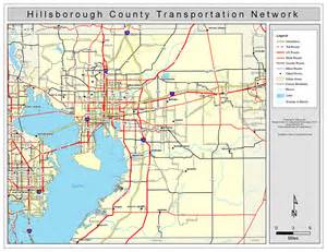 hillsborough county road network color 2009