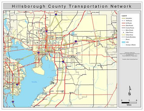 Search Hillsborough County Hillsborough County Road Network Color 2009