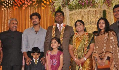 actor vijay daughter recent photos vijay in marriage function with his family