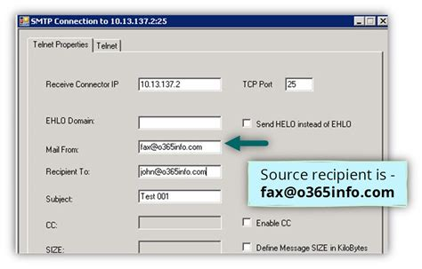 smtp test smtp relay in office 365 environment troubleshooting