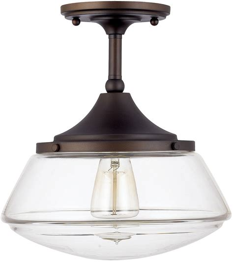Capital Lighting 3533bb 134 Burnished Bronze Semi Flush