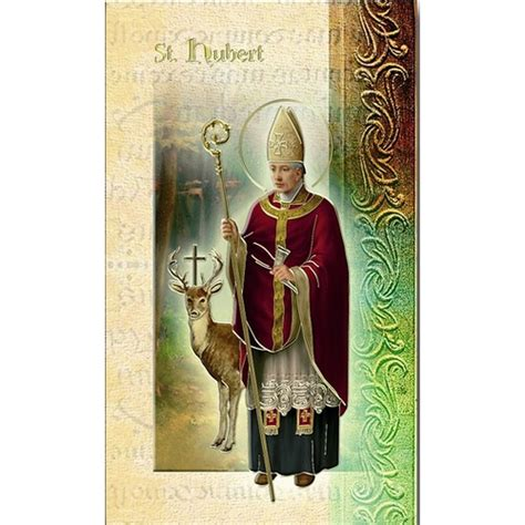 St Hubert Gift Card - st hubert mini lives of the saints folded prayer card the catholic company