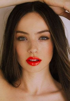 natural makeup tutorial with red lips red lipstick on pinterest red lipsticks red lips and