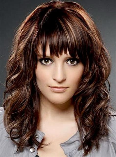 shoulder length haircuts with bangs medium length haircuts with bangs for wavy hair