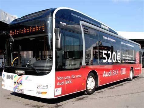 Audi Bkk Ingolstadt by Ingolst 228 Dter Buswerbung Buswerbung Im Gro 223 Raum