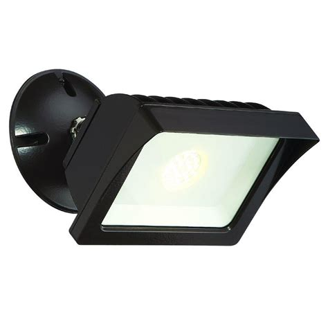 How To Install Outdoor Flood Lights Envirolite Bronze Outdoor Led Adjustable Single Flood Light Fl2016n40 48 The Home Depot