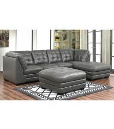Top Grain Leather Sectional Sofa Sectionals Top Grain Leather Sectional With Ottoman