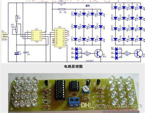 diy strobe light diy led strobe light kit blue color ne555 cd4017