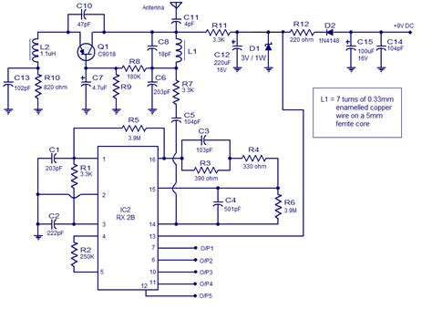 Tx 2b 5 channel radio remote circuit based of tx 2b rx 2b pair