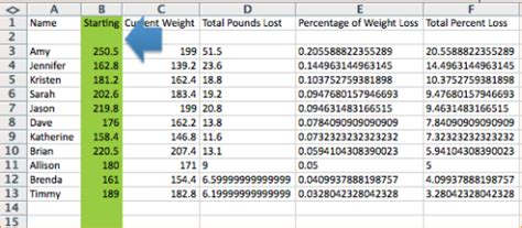 Weight Loss Challenge Spreadsheet by 4 Weight Loss Challenge Spreadsheet Procedure Template