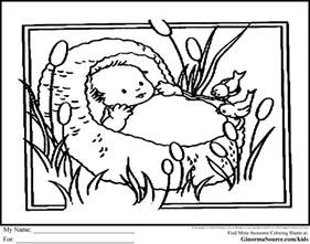 baby moses coloring page moses in the bulrushes coloring page search pre