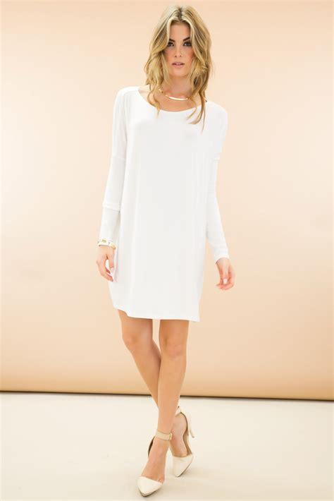 Sleeve White white shift dress with sleeves stylish dress