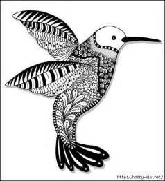 Zentangle Hummingbirds Coloring Pages Doodles Abstract Posts sketch template