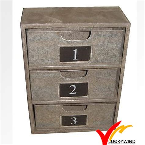 shabby chic metal furniture file cabinet with 3 drawers