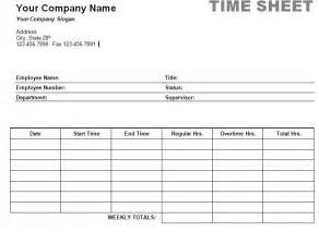 Easy Timesheet Template by Printable Weekly Time Sheet Timesheet Print
