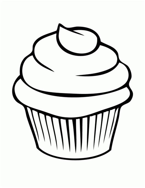 cupcake template to print free printable cupcake coloring pages for