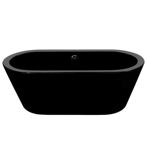 black freestanding bathtub saratoga freestanding oval black bathtub bathrooms plus