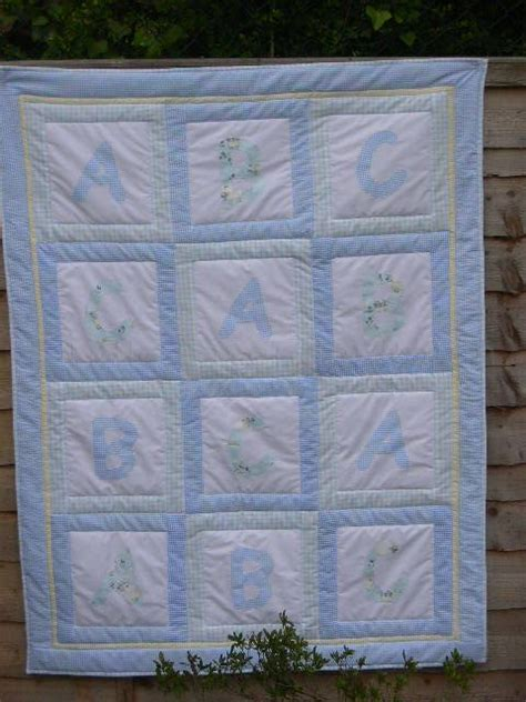 Patchwork Cot Quilt Kits - abc patchwork seersucker crib quilt 48 quot x 38 quot kit also