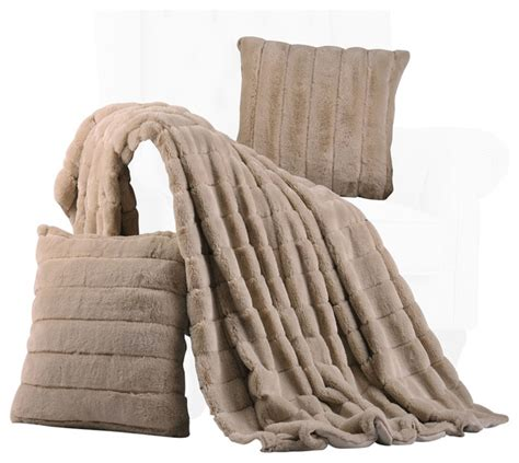 Matching Throw Pillows And Blankets by Rabbit Faux Fur Throw Blanket And 2 Matching Pillows Combo