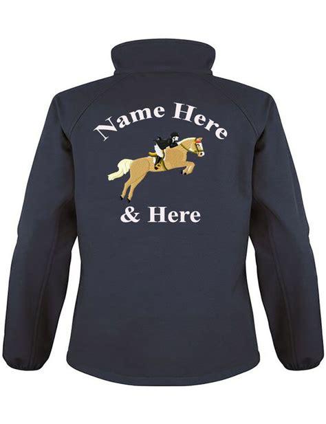 design monogram jacket personalised embroidered ladies equestrian softshell