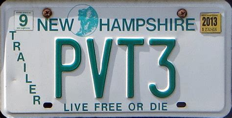 Nh Dmv Vanity Plates by New Hshire Sam Farley Plates