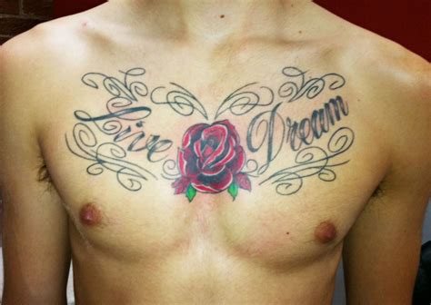 chest tattoo quotes for men top chest designs project 4 gallery