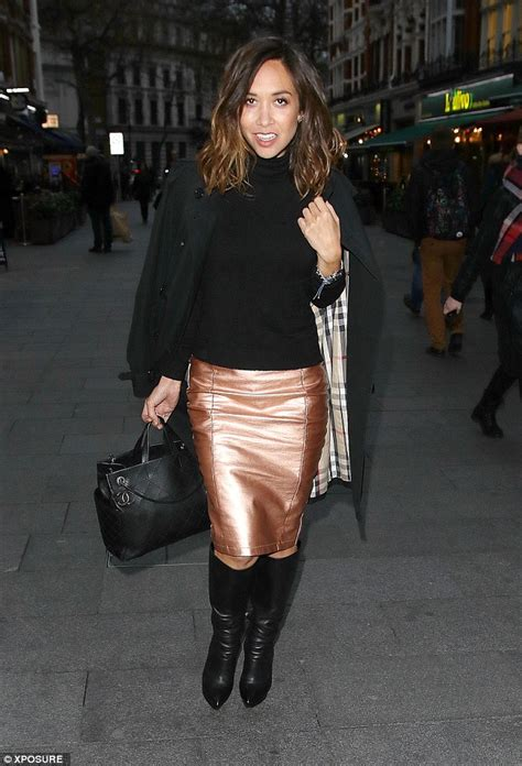 Daily Mail Boots Detox by Myleene Klass Stuns In Bronze Skirt As She Heads To Global