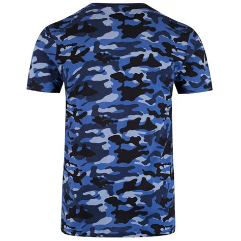 Army Print T Shirt Mens by Adidas Originals Mens Streetwear Logo Camo Army Print T Shirt Top B Grade