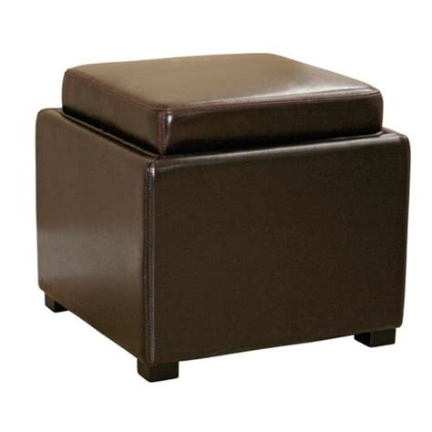 cheap leather ottomans wholesale interiors bicast leather storage ottoman brown d