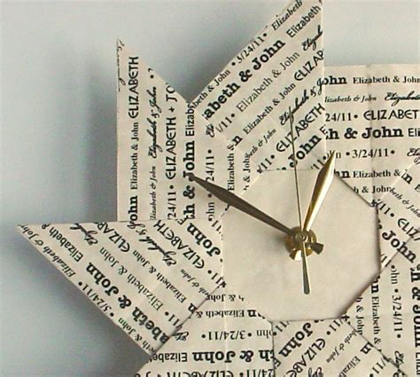How To Make An Origami Clock - personalized 1st anniversary gift custom origami clock