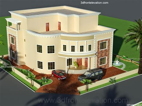 3d Front Elevation Com Oman New Arabian Villa Plan Design House Design Plan In 3d