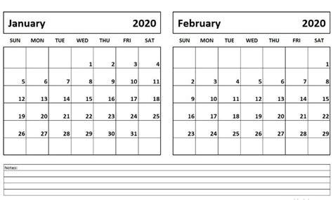 january february  calendar printable calendar template monthly calendar printable