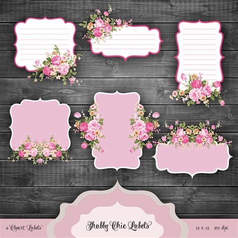 Kaligrafi Shabby Chic Pink valentines shabby chic labels digital clipart vintage floral