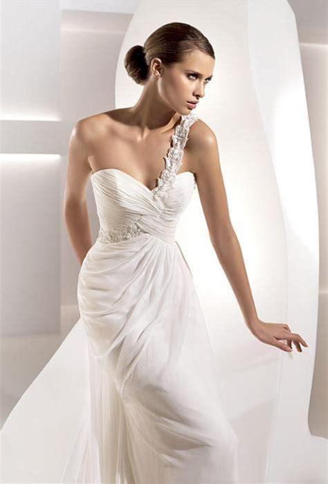 one shoulder wedding dress bridal dresses uk add your charm with one shoulder