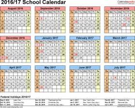 academic calendar 2016 17 template 2017 calendar with