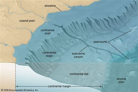 Continental Shelf Slope And Rise by Relief Major Relief Features Pmf Ias