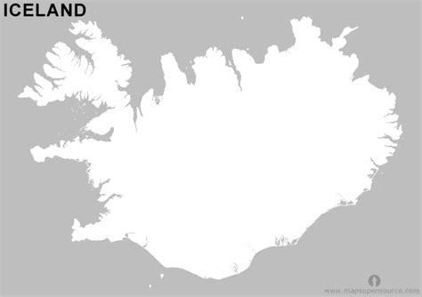 iceland outline map black  white black  white