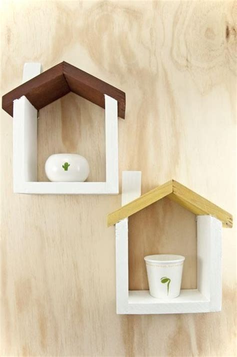 Handmade On The Shelf - handmade wooden house floating shelf small by
