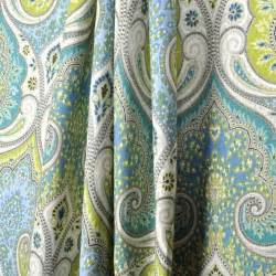 Paisley Curtains Blue Made Custom Designer Curtain Panels Kravet Latika Paisley In Pool Blue Linen Curtains 96l