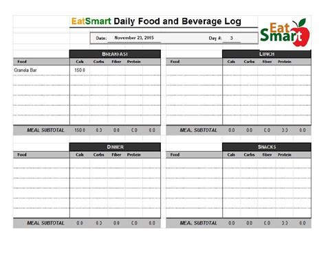 sle food diary template 28 images 40 simple food diary