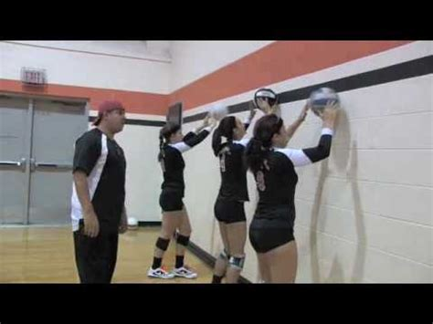 setting drills for volleyball practice volleyball setting drill wall ball youtube