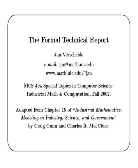 online technical writing report format and final production