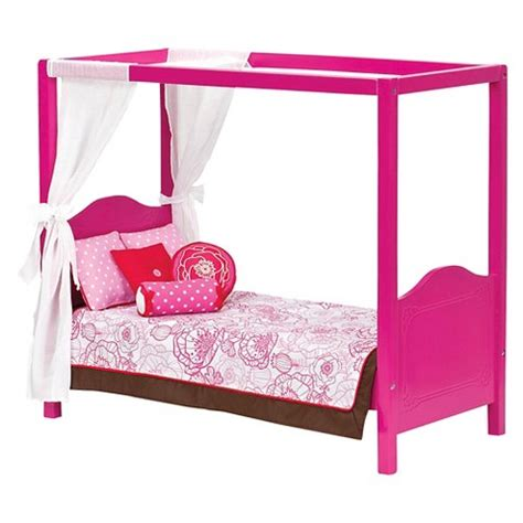 american girl doll canopy bed my sweet canopy bed pink our generation target