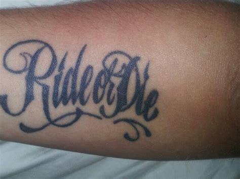 ride or die mine tattoos