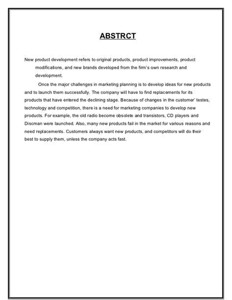 design proposal conclusion new product development