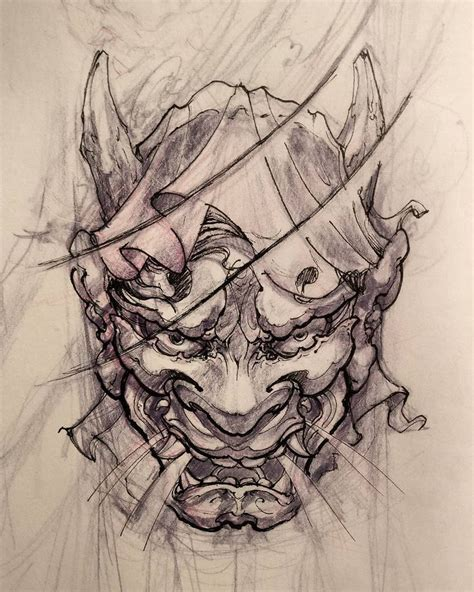 hannya tattoo designs best 25 hannya mask ideas on oni
