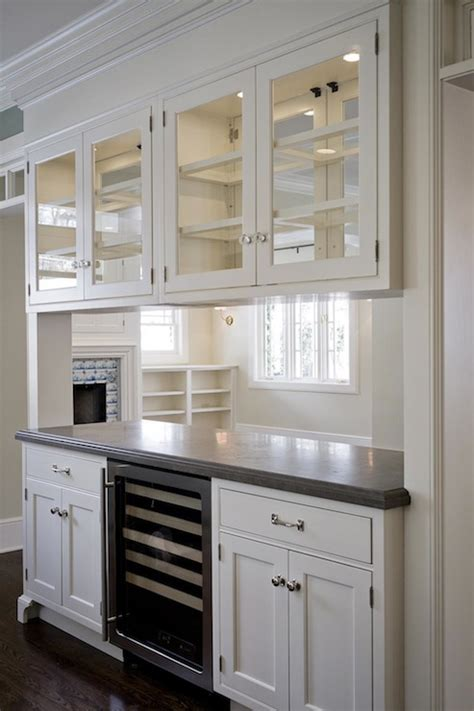glass upper kitchen cabinets glass front upper cabinets traditional kitchen cameo
